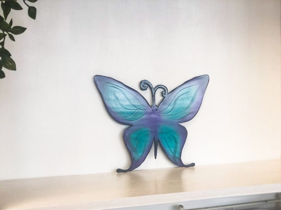 5. Butterfly Wall Art with Powder Coat