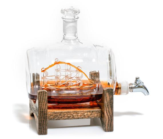 5. Whiskey Decanter with Sailboat