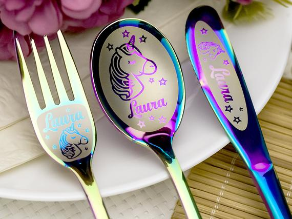 10. Personalized Children's Cutlery